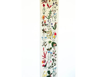 Vintage Screen Printed Floral Wall Hanging