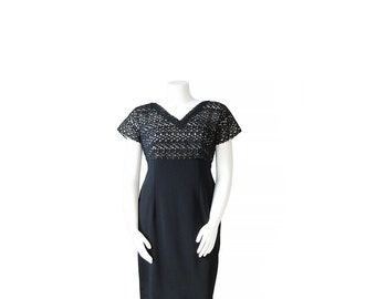 1960s Dress Plus Size • 60s Cocktail Party Dress •XL XXL