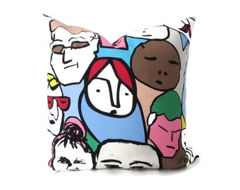 Pillow Cover Pop Art IKEA Beckmans College of Design Faces Both Sides