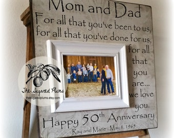 50th Anniversary Gifts, Parents Anniversary Gift, For All That You Have Been To Us, Anniversary Frame, 16x16 The Sugared Plums Frames