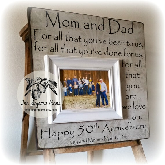 Ideas For 50th Wedding Anniversary Present : 50th Anniversary Gifts, Parents Anniversary Gift, For All That You ...