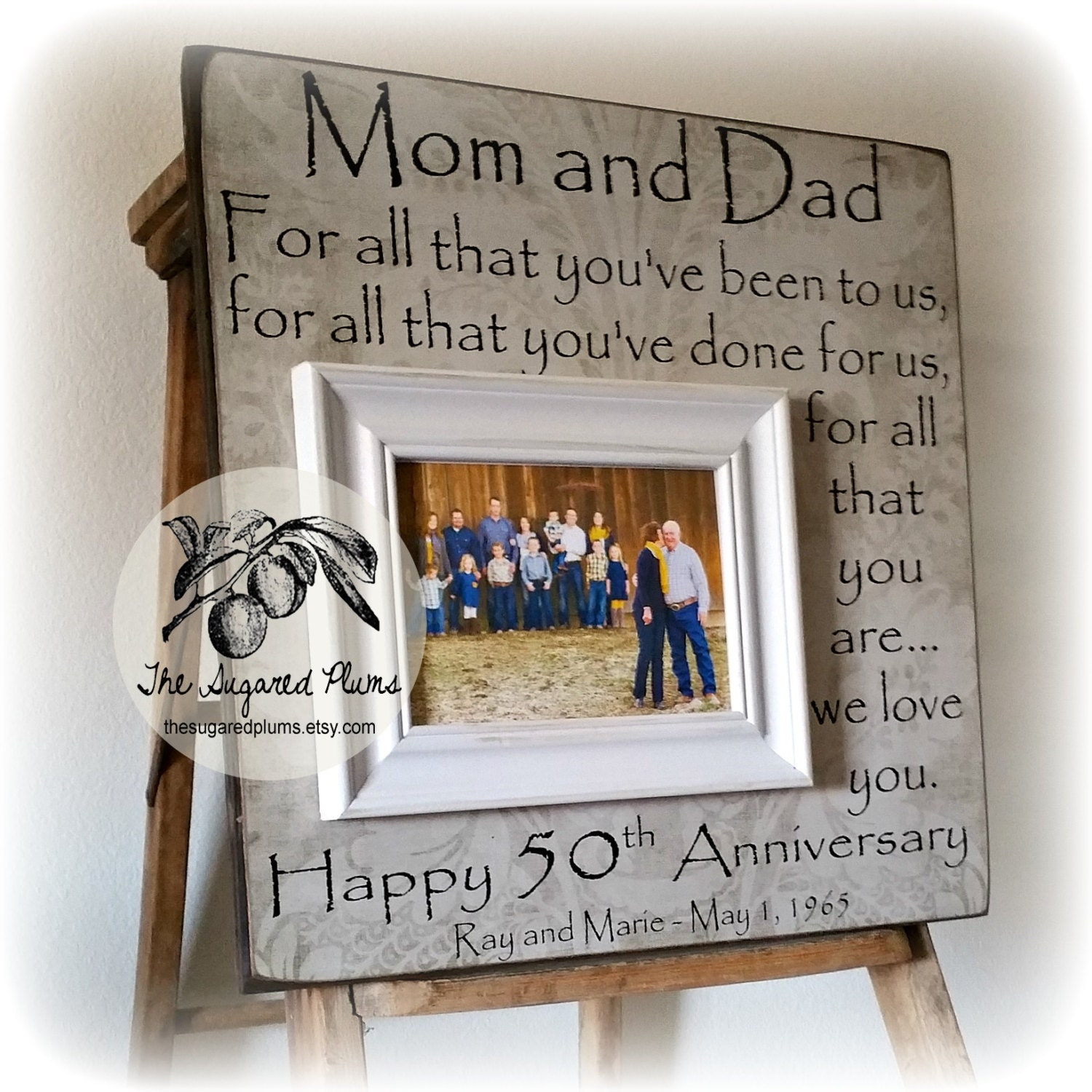 50th anniversary gifts parents anniversary gift for all that you have been to us anniversary frame 16x16 the sugared plums frames