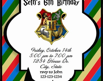 Harry Potter Birthday Invite