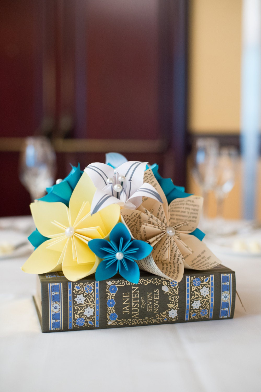 paper flower wedding centerpiece origami flowers and lilies