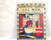 Sunbonnet Babies A-B-C Book, by Eulalie Osgood Grover, illustrated by Bertha Corbett Melcher, A Modern Hornbook, copyright 1929