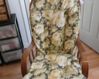 Nursery Glider Rocker SlipCover -Shabby Chic Cabbage Roses   Covers for your cushions