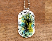 Tenor Saxophone Dog Tag Necklace for Band Geeks