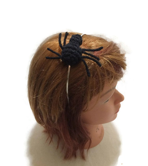 Spider Headband Black Spider Amigurumi Spider Cosplay