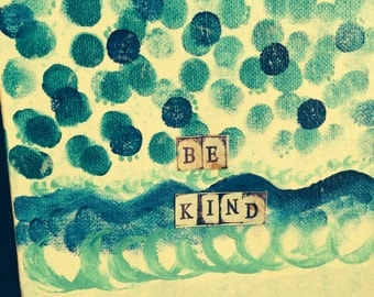 BeKind whimsical canvas
