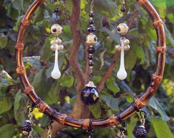 Bamboo Mobile #73 Crystal Metaphysical Decor OOAK