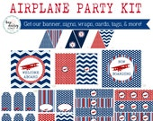 Airplane Birthday Party, Airplane Baby Shower, Airplane Birthday Decorations, Airplane Baby Shower Decorations, Airplane Party Decorations