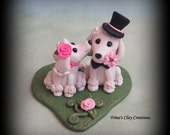 Wedding Cake Topper, Custom Cake Topper, Poodles, Puppy Cake Topper, Dog, Polymer Clay, Keepsake