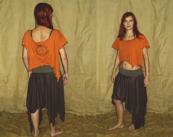 SALE: Flower of life sacred holy pointy elven top M-XL