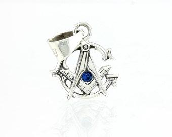 Masonic Pendant Sterling Silver Charm