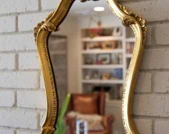 Medium Sized Golden Mirror