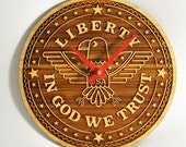 Liberty Bamboo USA Clock