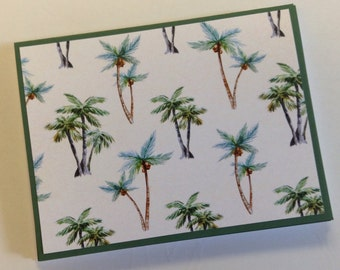 Palm Trees Stationery, Hawaii Note Cards, Florida Notes, Florida Stationery, Tropical Cards, Island Cards, 6 Cards and Envelopes