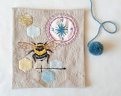 Bee embroidery pattern Pdf. Queen bee Printable pattern. Bumble bee. Entomology. Hand embroidery. DIY hoop art. DIY wall art. DIY craft