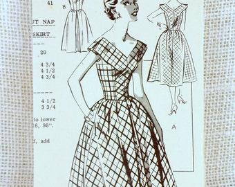 Vintage Pattern New Style 2134 mail order Bust 36 pilgrim bodice V neck fit and flare rockabilly