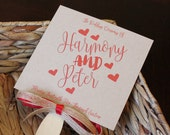 Rustic Valentines Wedding Fan Program **Front and Back Sides Fully Customized**