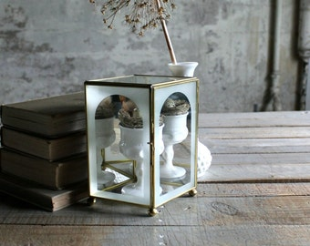 Vintage Glass and Metal Display Box