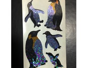 Rare Hambly Stickers: Penguins - Collection Vintage Glitter Retired Hard to Find Cute Sea Bird Animal Baby Arctic Endangered New Collector