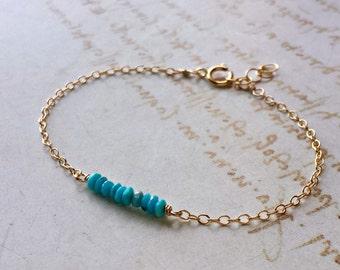 Tiny Turquoise Bracelet, Sleeping Beauty Turquoise Bracelet, Turquoise Anklet, Minimalist Aqua Bracelet, Aqua Anklet