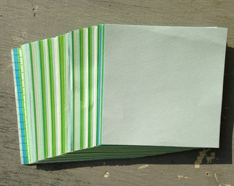 Paper Squares 80mm, green & blue - for origami, decoupage, scrapbooking and crafts