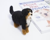 Custom Dog Portrait - Felted Dog - Bernese Mountain Dog Example - Felted Pet Portrait