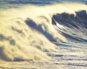 Ocean Wave Photo - Modern Beach Decor Photograph