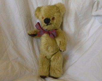 "Vintage Chad Valley Bear - 10"" Mohair Bear - 1960's Toy - English Teddy"