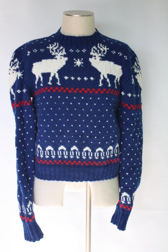 Womens Reindeer Sweater