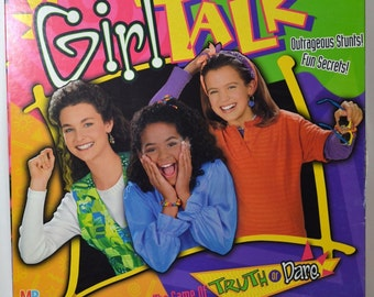 Vintage Girl Talk Truth or Dare Board Game Complete 1995