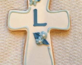 Baptism Favors, Communion Cross Cookie Favors - 1 dozen