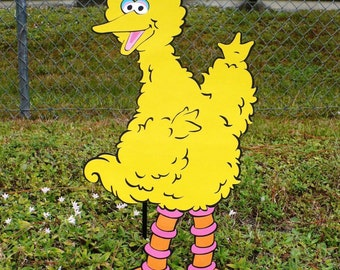 Sesame Street Big Bird Decoration 2 foot tall Stand Up, standee, Sesame Street Party Prop, Sesame Street Decor