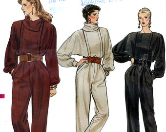 Vogue 8773 Vintage 80s Sewing Pattern for Misses' Jumpsuit - Uncut - Size 6