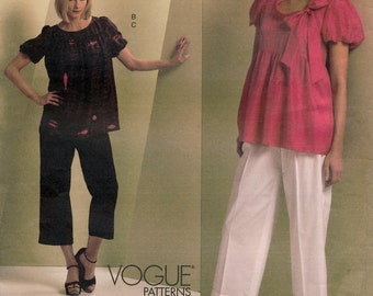Vogue American Designer V1111 Sewing Pattern by Donna Karan Misses' Tunic and Pants - Uncut - Size 14, 16, 18, 20