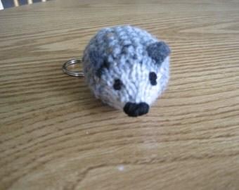 Gray Hedgehog Keychain