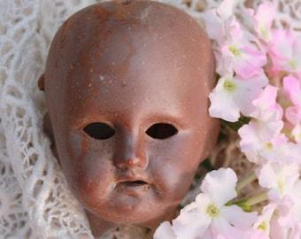 Bisque Doll Head Antique German Porcelain