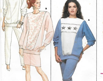 Butterick 5902 Women's 80s Top, Skirt & Pants Sewing Pattern Size 6 to 14. Bust 30 1/2 to 36