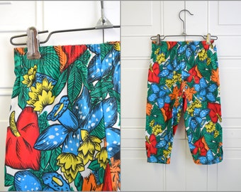 1980s Howard Joseph Kids' Tropical Print Pants