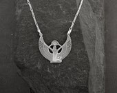 """Special for Kath Sterling Silver Egyptian Goddess Isis Pendant on a 30"""" Sterling Silver Chain."""