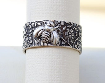 Bee Silver Ring,Bird Silver Ring,Jewelry Gift, Bird Ring, Ring,Antique Ring,Silver Ring,Wrapped,Adjustable,Bridesmaid.