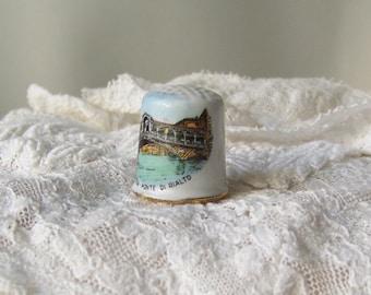 Vintage Thimble Venice Italy Thimble Collector Souvenir Rialto Bridge Grand Canal Sewing Room Collectable 1980s