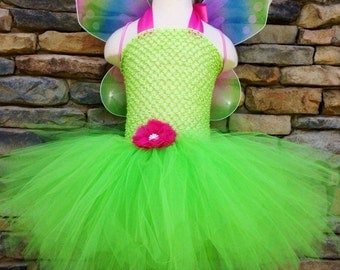 Girls Rainbow Fairy Tutu Dress Halloween Costume (Newborn - 5T)