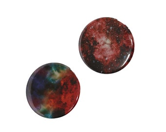 Set of Galaxy Pin Buttons - 2 inch Pinback Buttons