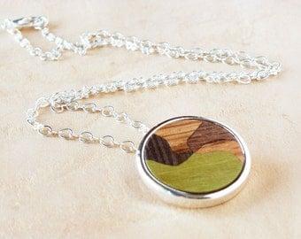 Wooden necklace, pendant necklace, jewelry necklaces, fashion necklace, wood pendant, nature jewellery, minimalist jewelry, trendy jewelry
