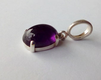 Amethyst In Sterling Silver Pendant, 5.8ct.