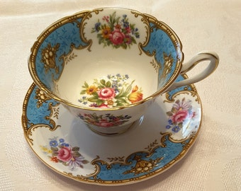 Shelley Tea Cup & Saucer; Titled, 'Duchess' circa 1940-1966-  DR