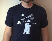 Men's Polar bear shirt, Swedish Jag Älskar Dig, (I Love you) screen printed American Apparel tee